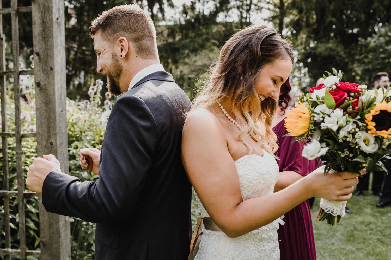 first look photo, bride and groom photos, ottawa wedding photographer, strathmere wedding photographer