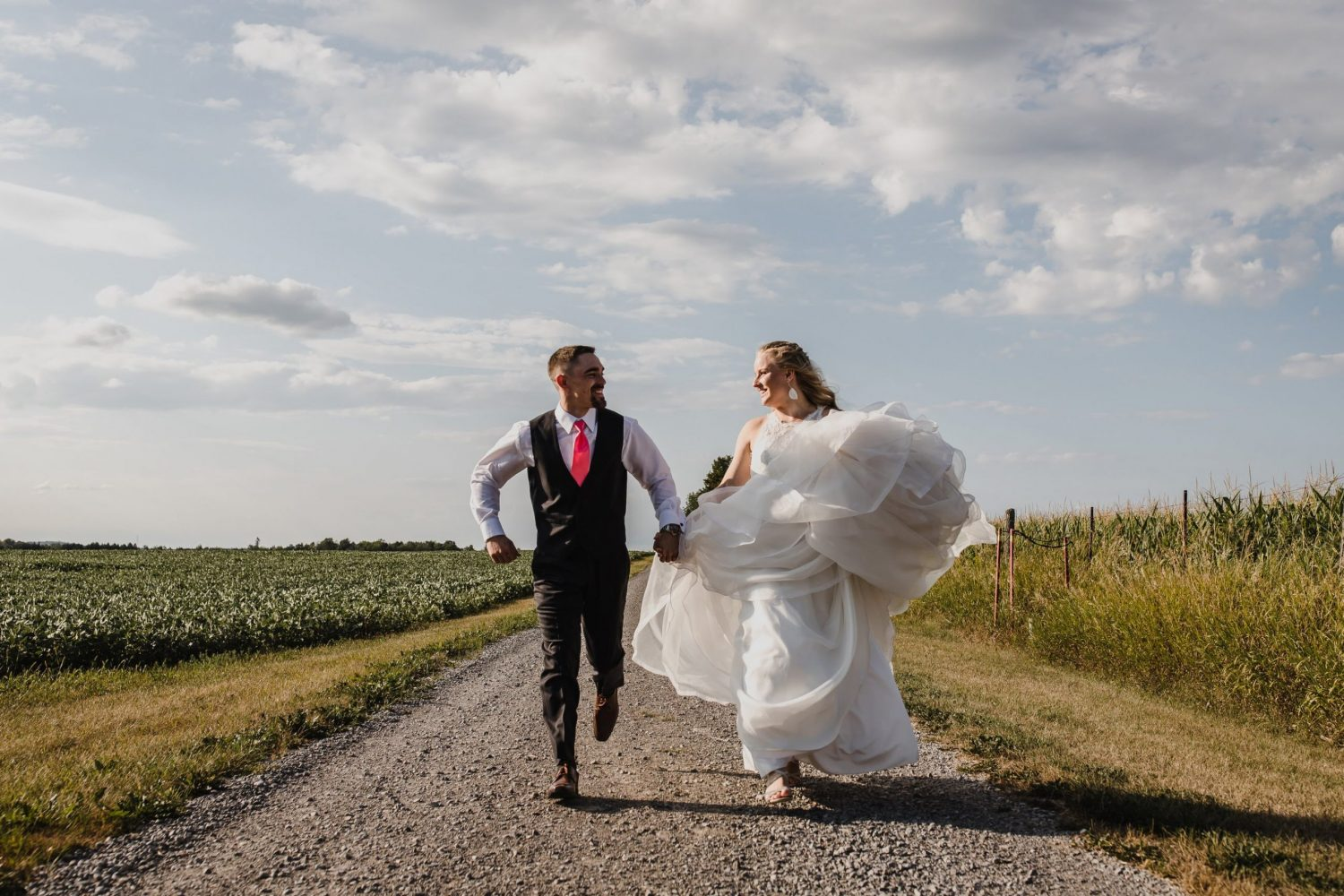 bride and groom, farm wedding photographer
