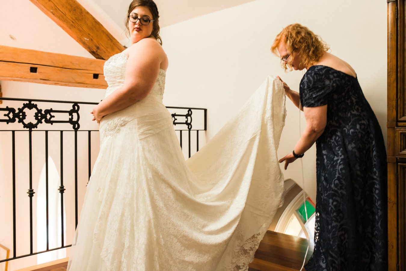 bride and mom getting ready, wedding memories, Peterborough wedding photographer