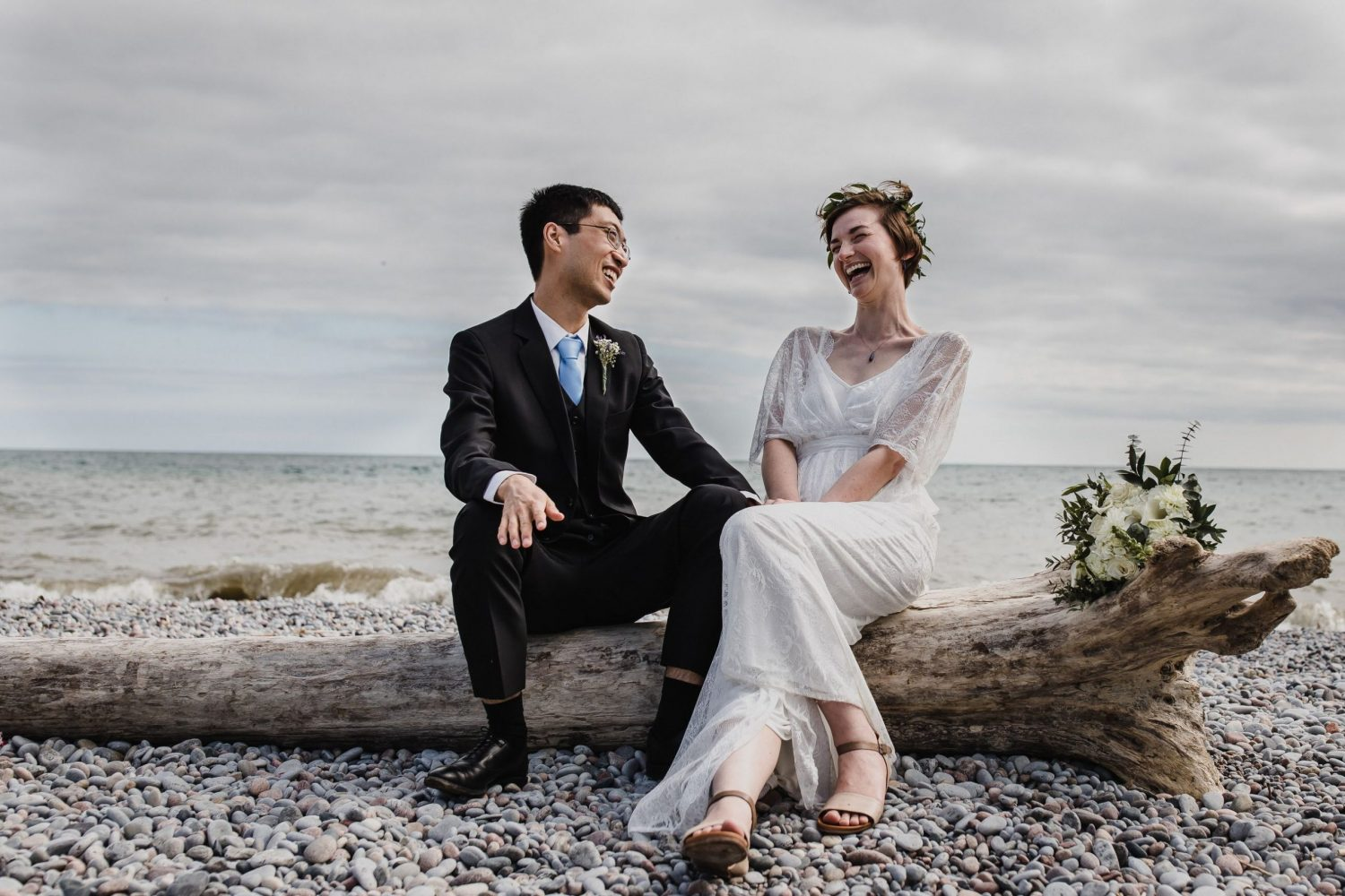 cobourg wedding photographer, beach wedding photographer, boho wedding