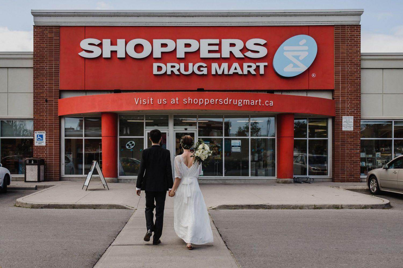 fun wedding photos, intimate wedding, cobourg wedding photographer